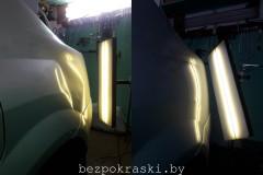 Renault Logan Удаление вмятин без покраски.