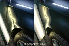 Audi A3 Казалось, что сделать ничего нельзя, но крыло было спасено от покраски!
