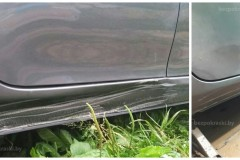 Toyota Corolla   Ремонт вмятины на пороге