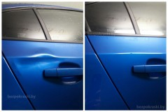 Chevrolet Cruze Удаление вмятин Подарок от неизвестного грузовика
