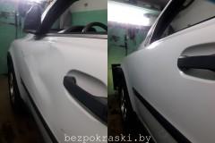 Volvo XC90 Результат ДТП, треснуто ЛКП, погнут усилитель. Сделано под покраску.