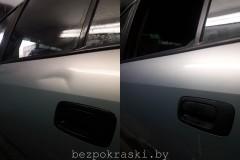 Opel Zafira  Удаление вмятин неудачной парковки.