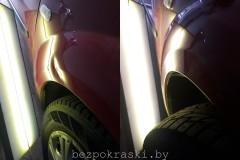 Dacia Logan  Снова парковка. Все поправимо без покраски.